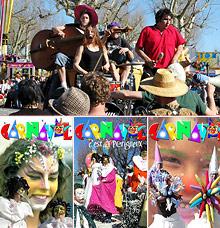 Une photo prise au cours du carnaval de Périgueux en 2007 et trois autres posters. Cliquez pour voir l'agrandissement des posters s'afficher ci-dessous.