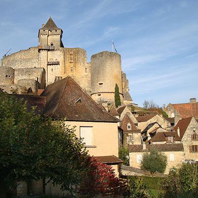 Le château de Castelnaud en Périgord Noir, Dordogne