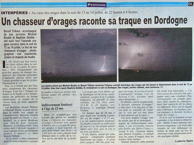 Chasseurs d'orages en Dordogne