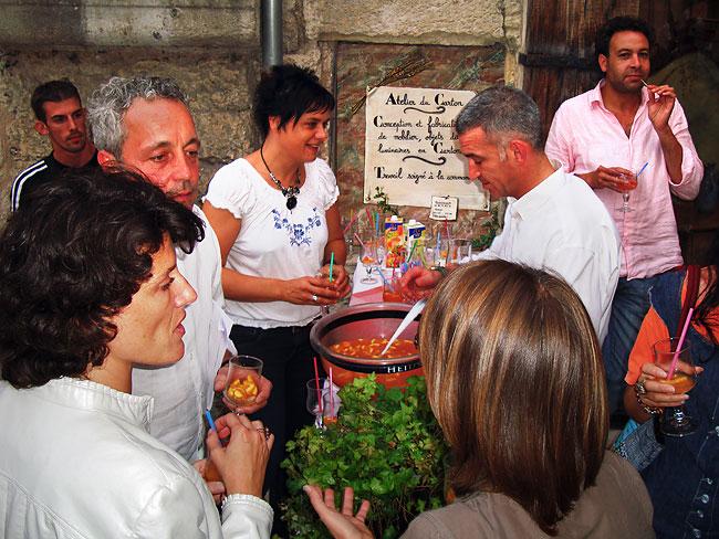 Le punch lors du cocktail donné pour célébrer le prix SEMA que venait de gagner Émilie Mazeau Langlais