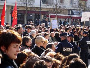 Les manifestations lors de la visite de Nicolas Sarkozy à Périgueux le 15 février 2008