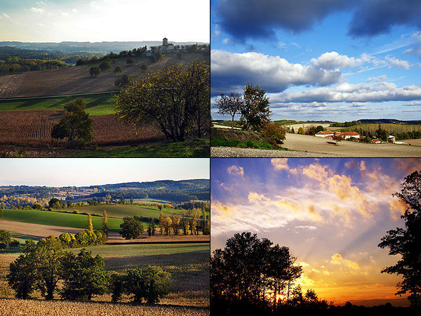 Paysages entre Montagrier et Corneguerre - photos prisent en 2005-6
