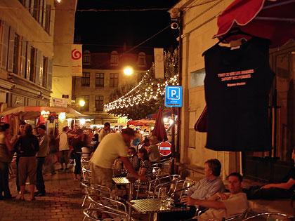 Terrasse du café du Coderc sur la place du Coderc