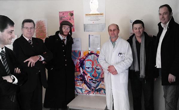Photo de groupe de Patrick Médée, Jean-Paul Daudou, Pablo, Docteur Philippe Lataste, Jean-Francois Laroussarie, Hubert Tarbouriech