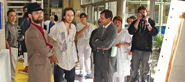 Photo de groupe de Pierre Cherbero, Pablo, Patrick Médée, Danielle Vigier, Frank Lestrade
