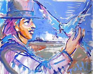 La main, une œuvre de Pablo, peintre en Périgord