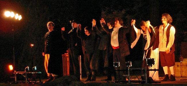 Ruy Blas au parc Gamenson en 2008 - les acteurs saluent
