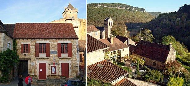 La mairie de Castelnaud et l'église