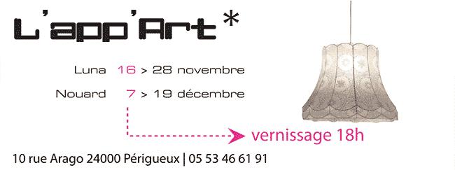 Programme de l'App'Art durant novembre et décembre 2009