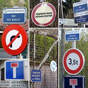 Panneaux routiers Notre-Dame-de-Sanilhac