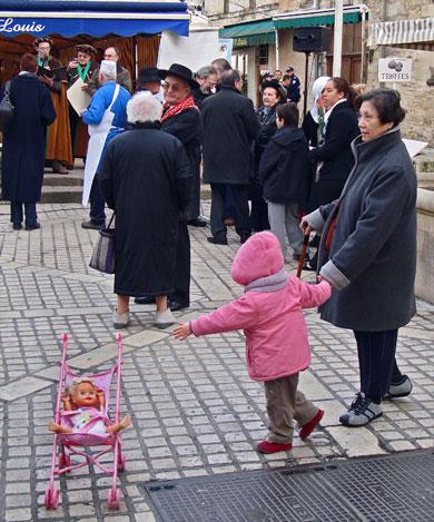 Foule au marché au gras de Périgueux janvier 2009