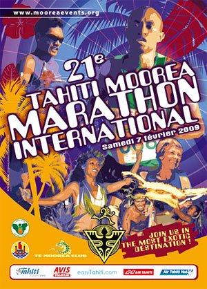 Poster du marathon de Moorea février 2009