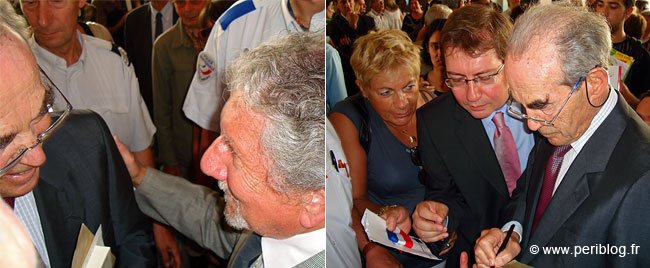 Robert Badinter avec Marcel Wieder de la LICRA