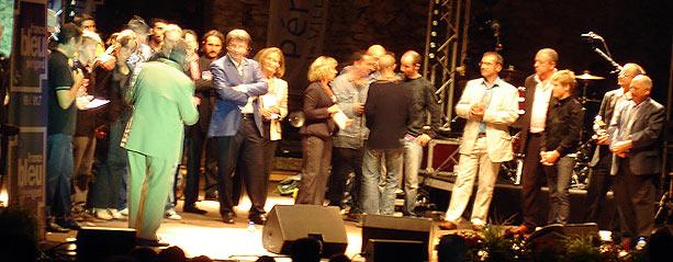 La Truffe d'Argent 2007 Périgueux, Xavier d'Arcos, Le groupe Kevin, remise des prix