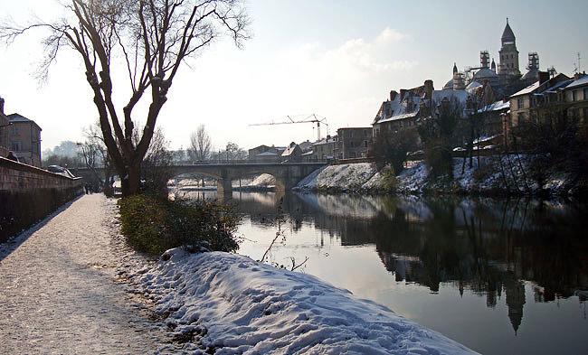 La Voie Verte sous la neige avec Saint Front de Périgueux le 10 janvier 2010